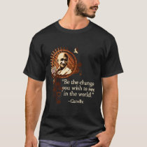 Funky Gandhi -Be the change T-Shirt