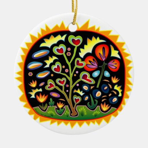 Funky Garden Ceramic Ornament Zazzle
