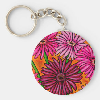 Funky Geber Daisies Floral Key Chain