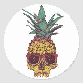 funny pineapple stickers zazzle. Black Bedroom Furniture Sets. Home Design Ideas