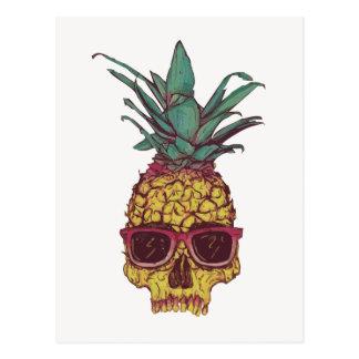 Funky Geek Cool Pineapple Punk Postcard