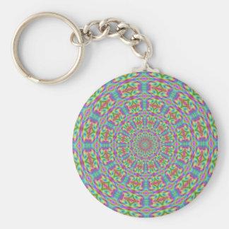Funky Geometric 60s Pop Art Keychain