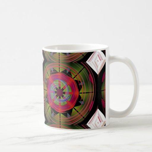 Funky geometric design of coffee cup classic white coffee mug zazzle - Funky espresso cups ...