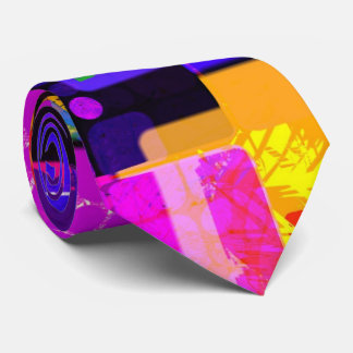 Funky Geometric Multicolored Design Neck Tie