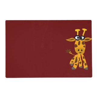 Funky Giraffe Art Cartoon Laminated Place Mat