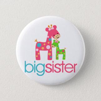 Funky Giraffe Big Sister Tshirt Button