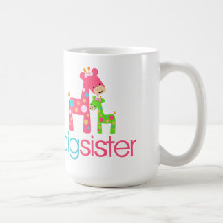 Funky Giraffe Big Sister Tshirt Coffee Mug