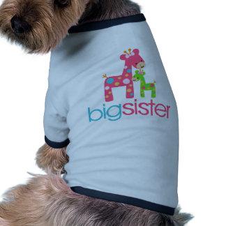 Funky Giraffe Big Sister Tshirt Dog T-shirt