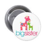 Funky Giraffe Big Sister Tshirt Pin
