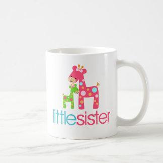 Funky Giraffe Little Sister tshirt Classic White Coffee Mug