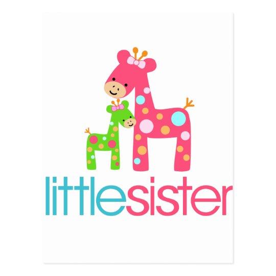 Funky Giraffe Little Sister tshirt Postcard