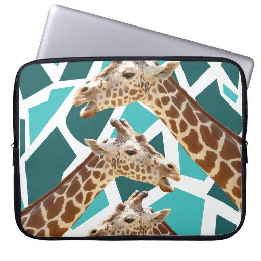 Dark blue giraffe print