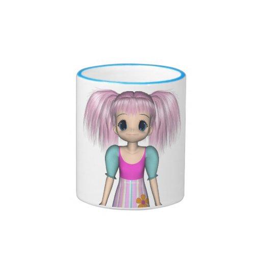 Funky Girl Anime Kid Mug