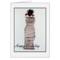 Funky Girl Happy Birthday Greeting Card