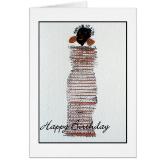Funky Girl Happy Birthday Greeting Card