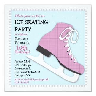 Ice skating birthday party invitations announcements zazzle funky girl ice skating birthday party invitation stopboris Image collections