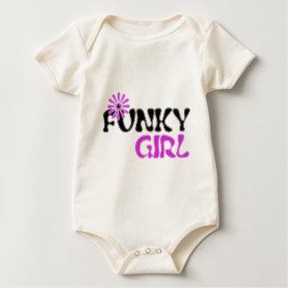 funky girl baby bodysuit