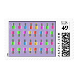 Funky Girlie Nail Polish Postage Stamps