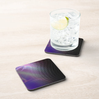 funky girly halftone textured drink coaster