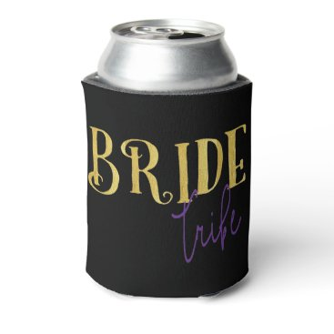 colourarts FUNKY GOLD BRIDE TRIBE WITH PURPLE CAN COOLER