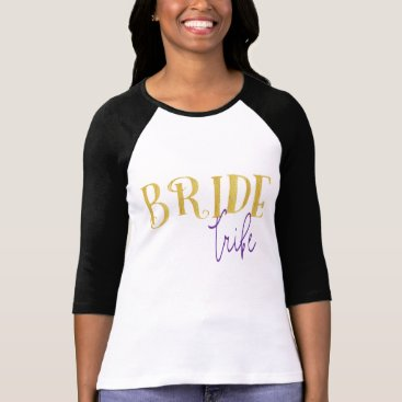 colourarts FUNKY GOLD BRIDE TRIBE WITH PURPLE T-Shirt