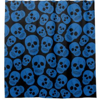 funky goth skulls shower curtain