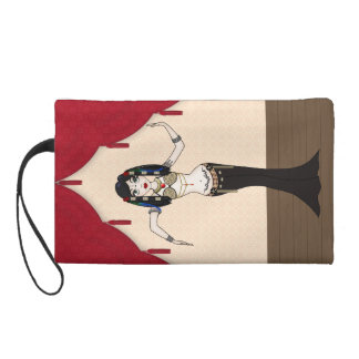 Funky Gothic Tribal Fusion Belly Dancer Wristlet Purse