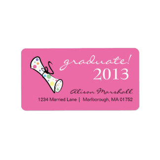 Funky Graduate Address Label