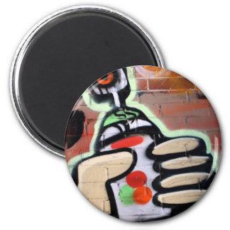 funky graffiti designs 2 inch round magnet
