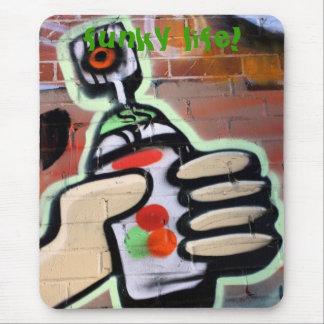 funky graffiti designs mouse pad