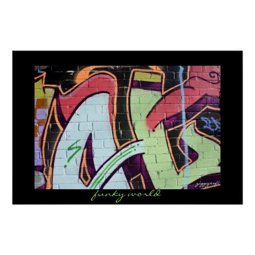 funky graffiti poster