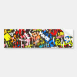 funky graffitis car bumper sticker