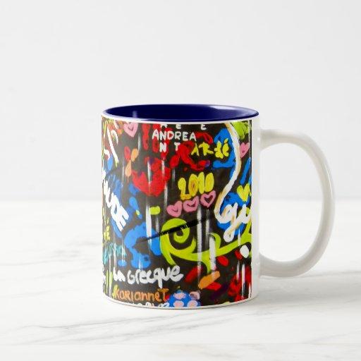 Funky graffitis coffee mugs zazzle - Funky espresso cups ...