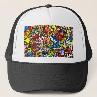 funky graffitis trucker hat