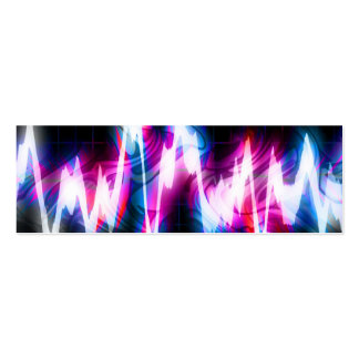 Funky Graphic EQ Audio Waveform Double-Sided Mini Business Cards (Pack Of 20)