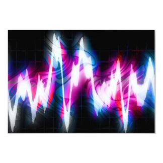 Funky Graphic EQ Audio Waveform Card