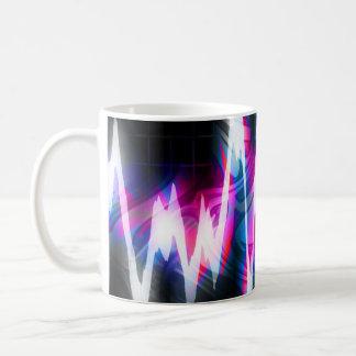Funky Graphic EQ Audio Waveform Coffee Mug