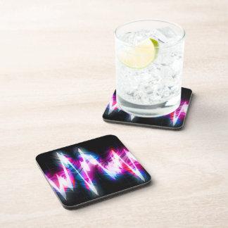 Funky Graphic EQ Audio Waveform Beverage Coasters