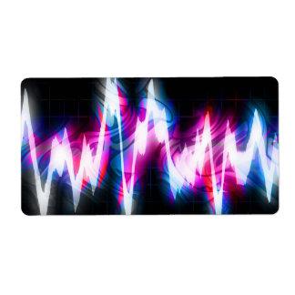 Funky Graphic EQ Audio Waveform Label