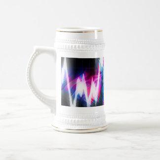 Funky Graphic EQ Audio Waveform 18 Oz Beer Stein
