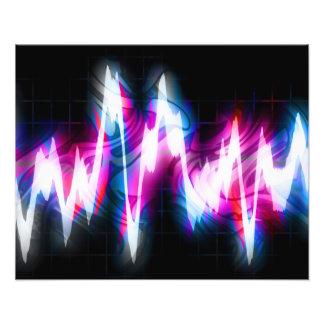 Funky Graphic EQ Audio Waveform Photo Art