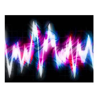 Funky Graphic EQ Audio Waveform Postcard