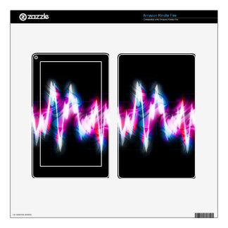 Funky Graphic EQ Audio Waveform Decal For Kindle Fire