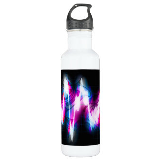 Funky Graphic EQ Audio Waveform Stainless Steel Water Bottle