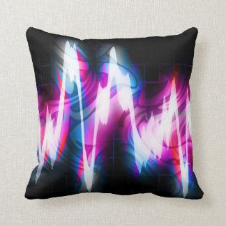 Funky Graphic EQ Audio Waveform Throw Pillow