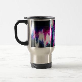 Funky Graphic EQ Audio Waveform Travel Mug