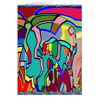 FUNKY Graphics Deco Art Gifts Festival Season 2014 Greeting Card