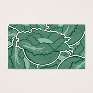Funky green cabbage business card