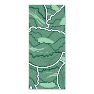 Funky green cabbage card