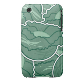Funky green cabbage iPhone 3 Case-Mate cases